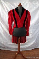 Roter Damen Frack aus Samt aus Theaterfundus