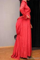 Rotes viktorianisches Kleid