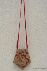 Viktorianisches Täschchen, Brokat, rot gold