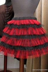 Tüllrock rot schwarz