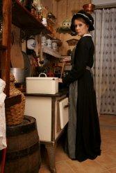 Dienstmädchenkleid um 1850