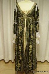 Renaissancekleid  Grün/Gold Brokat