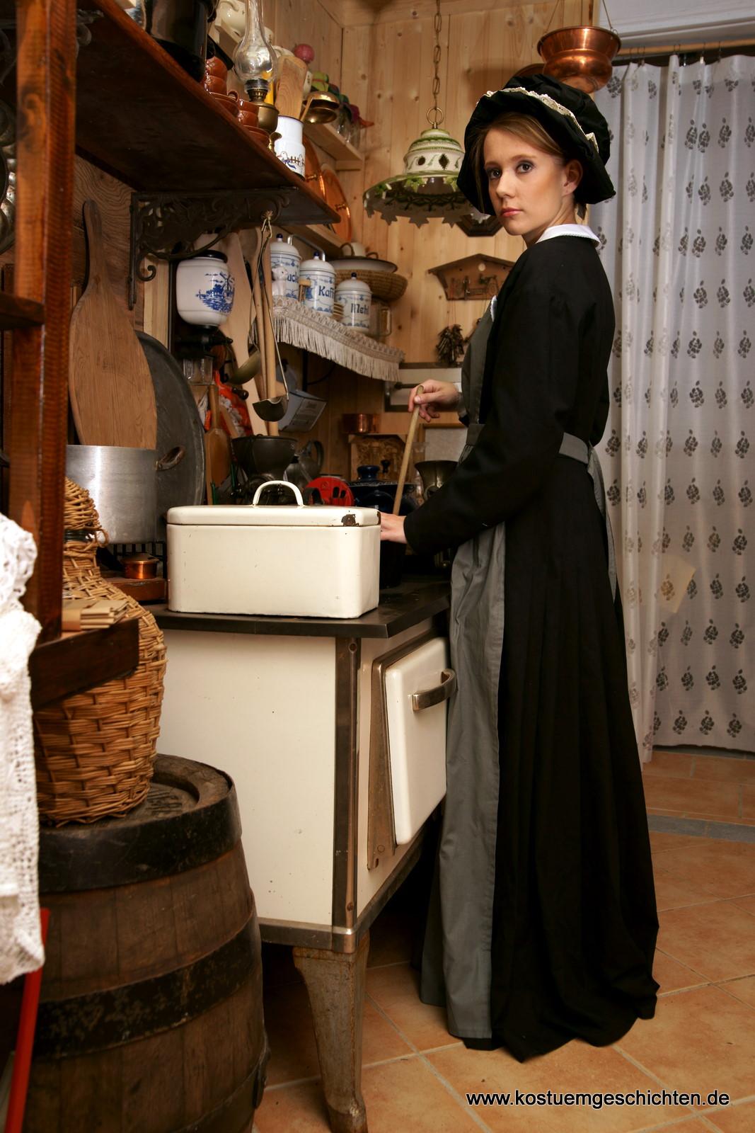 dienstmädchenkleid um 1850 - kostümverleih