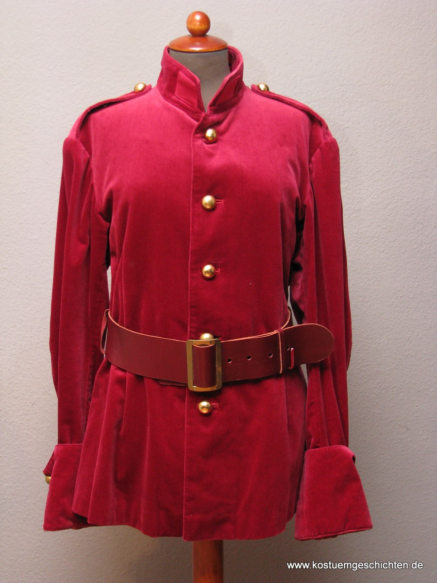 Rote uniformjacke